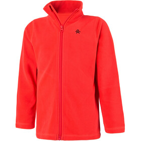 Color Kids Tembing Fleece Jas Kinderen, racing red